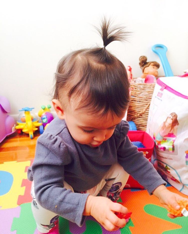 Her first pigtail!!! shes just too much cuteness Now Ihellip